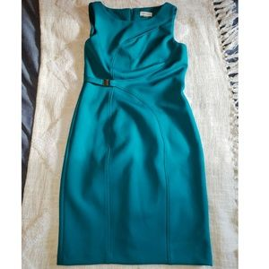 Calvin Klein Teal Peep Dress
